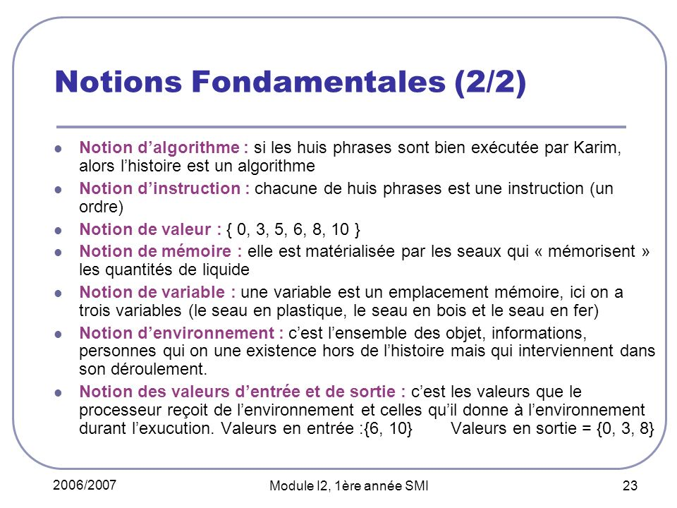 Notions Fondamentales (2/2)