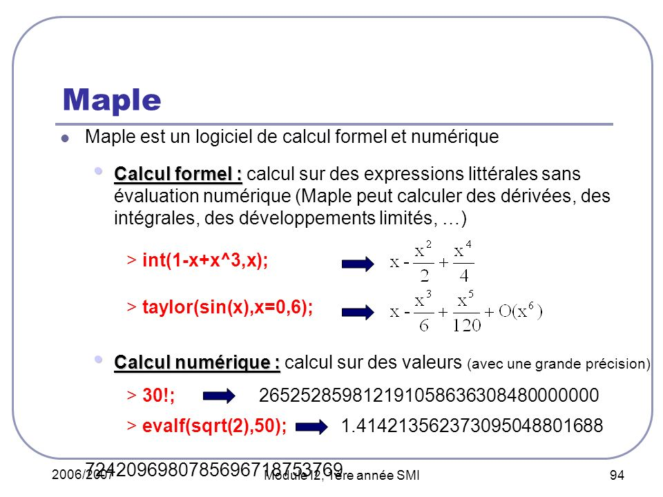 Maple > int(1-x+x^3,x);
