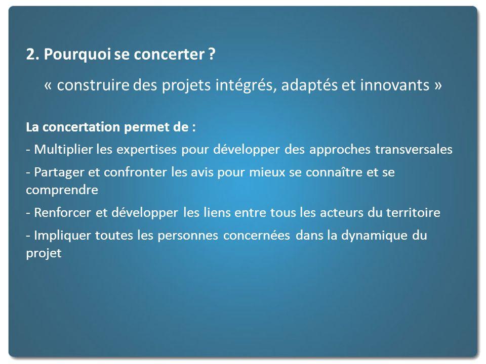 « construire des projets intégrés, adaptés et innovants »