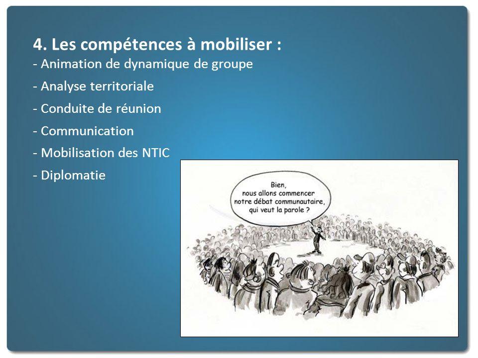 4. Les compétences à mobiliser :
