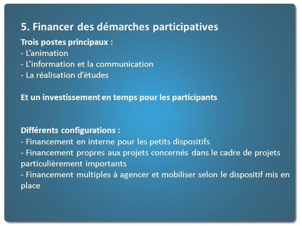 5. Financer des démarches participatives