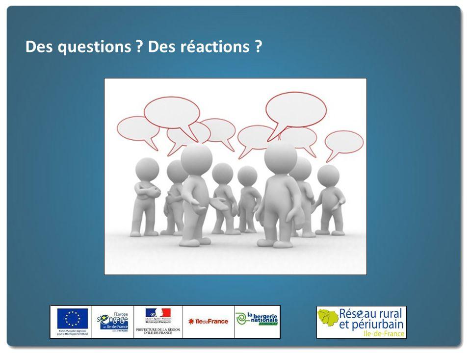 Des questions Des réactions