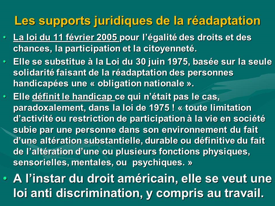 Les supports juridiques de la réadaptation