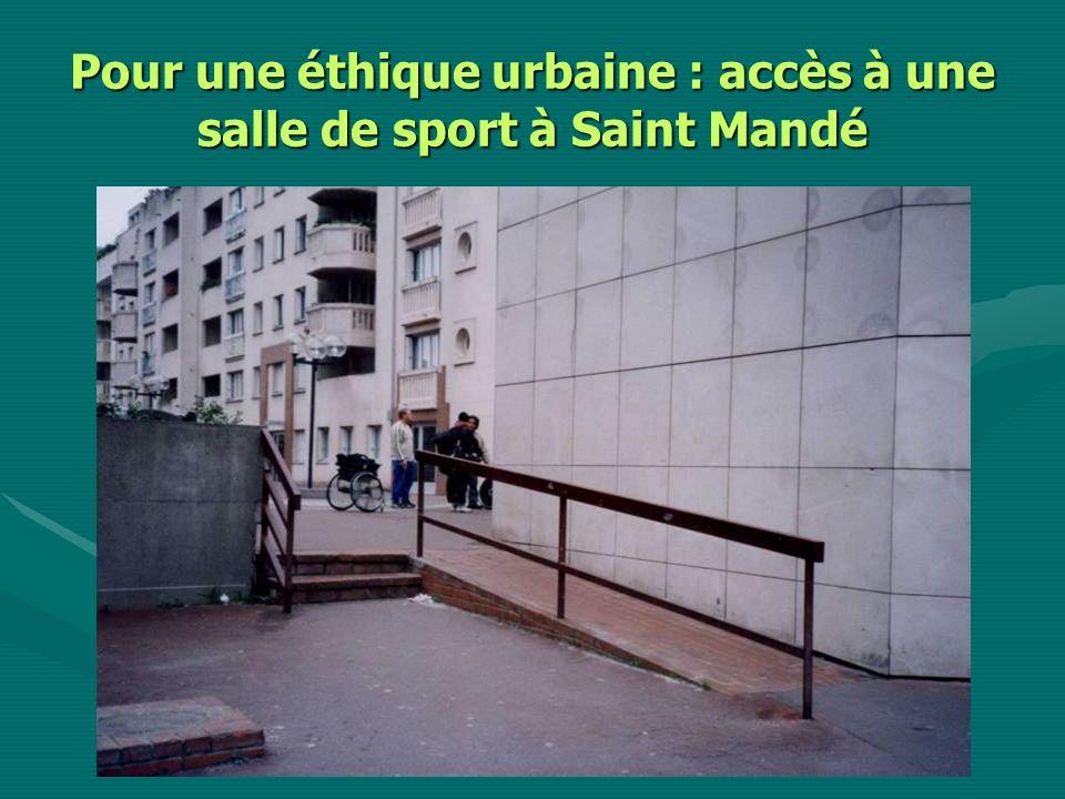 Pour une éthique urbaine : accès à une salle de sport à Saint Mandé