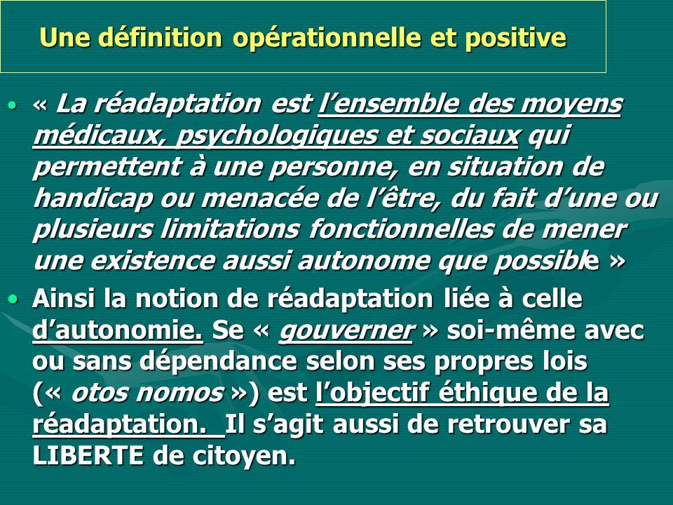 Une définition opérationnelle et positive