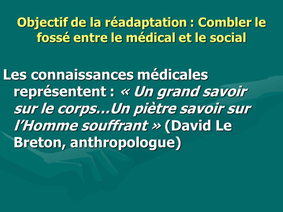 Objectif de la réadaptation : Combler le fossé entre le médical et le social