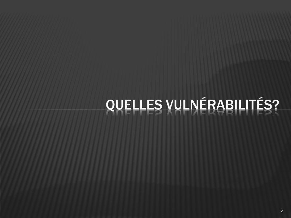 Quelles vulnérabilités
