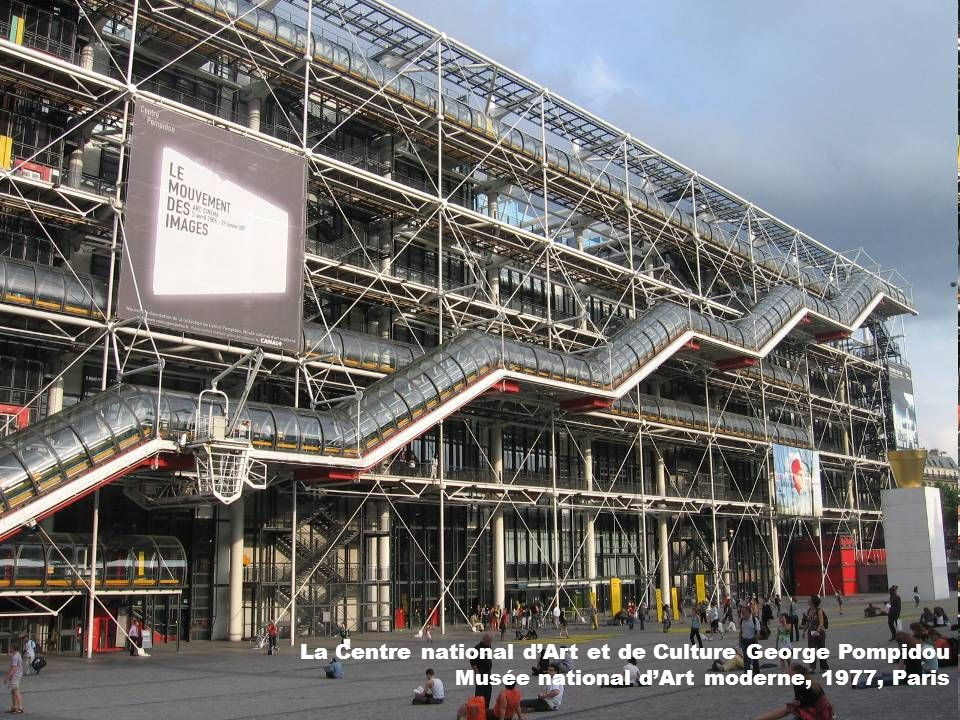 La Centre national d'Art et de Culture George Pompidou Musée national d'Art moderne, 1977, Paris
