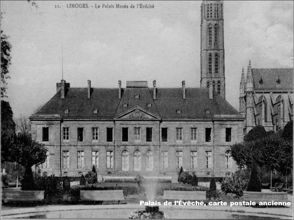 Palais de l'Évêché, carte postale ancienne