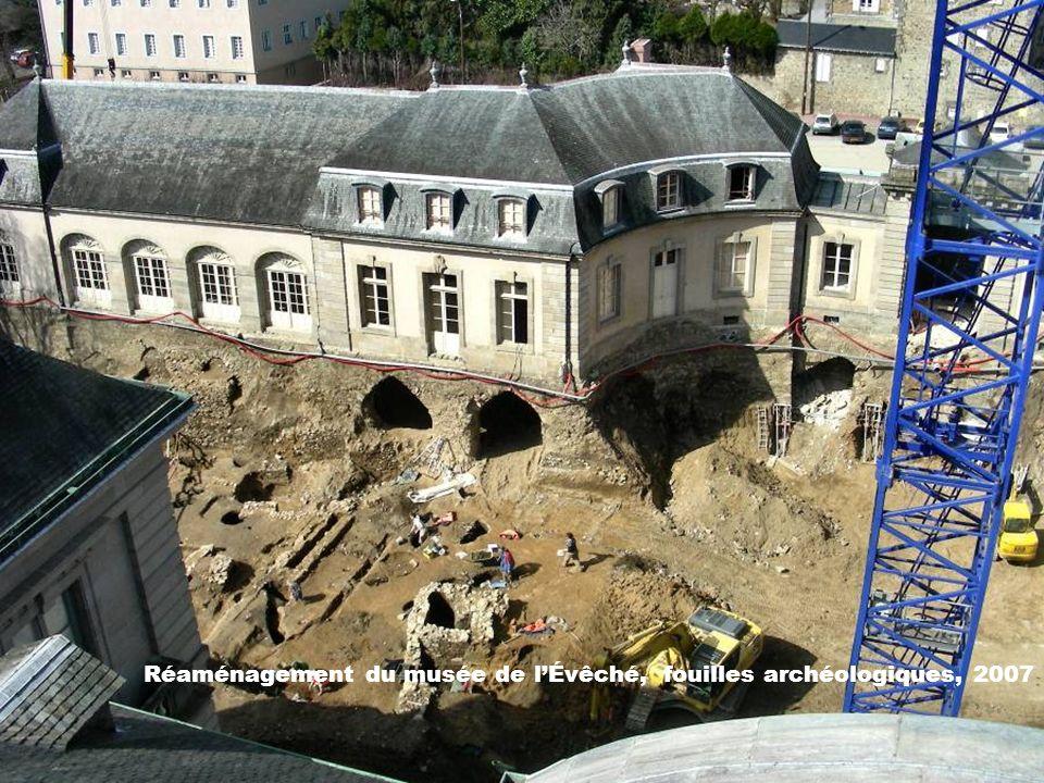 Réaménagement du musée de l'Évêché, fouilles archéologiques, 2007