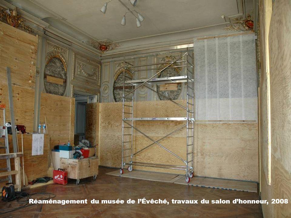 Réaménagement du musée de l'Évêché, travaux du salon d'honneur, 2008