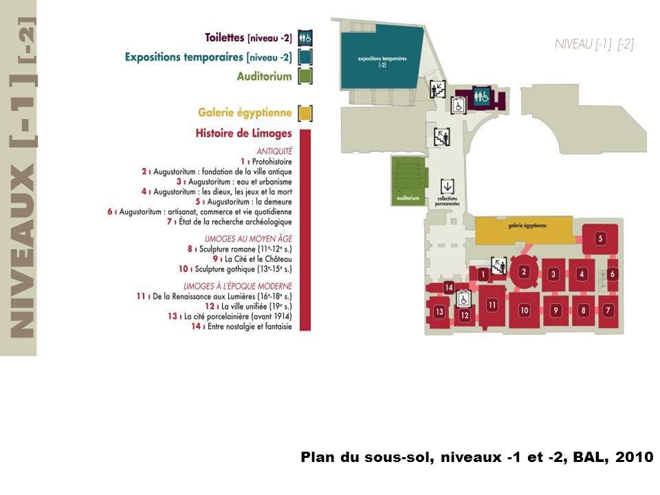 Plan du sous-sol, niveaux -1 et -2, BAL, 2010