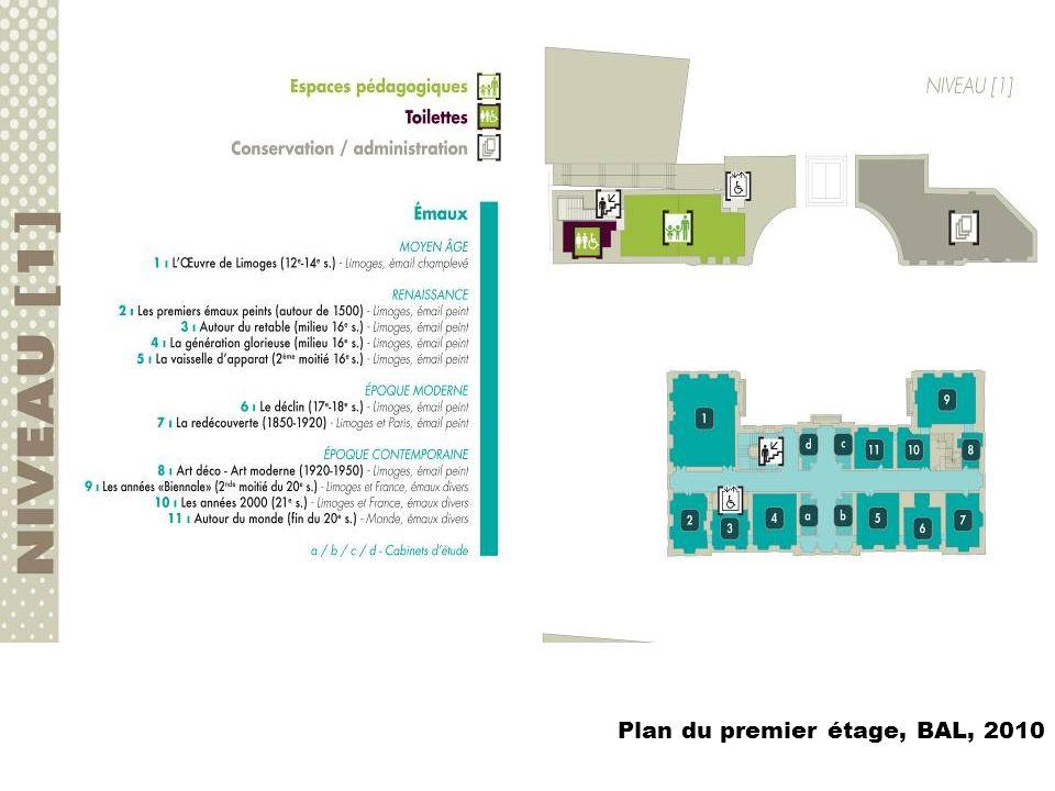 Plan du premier étage, BAL, 2010