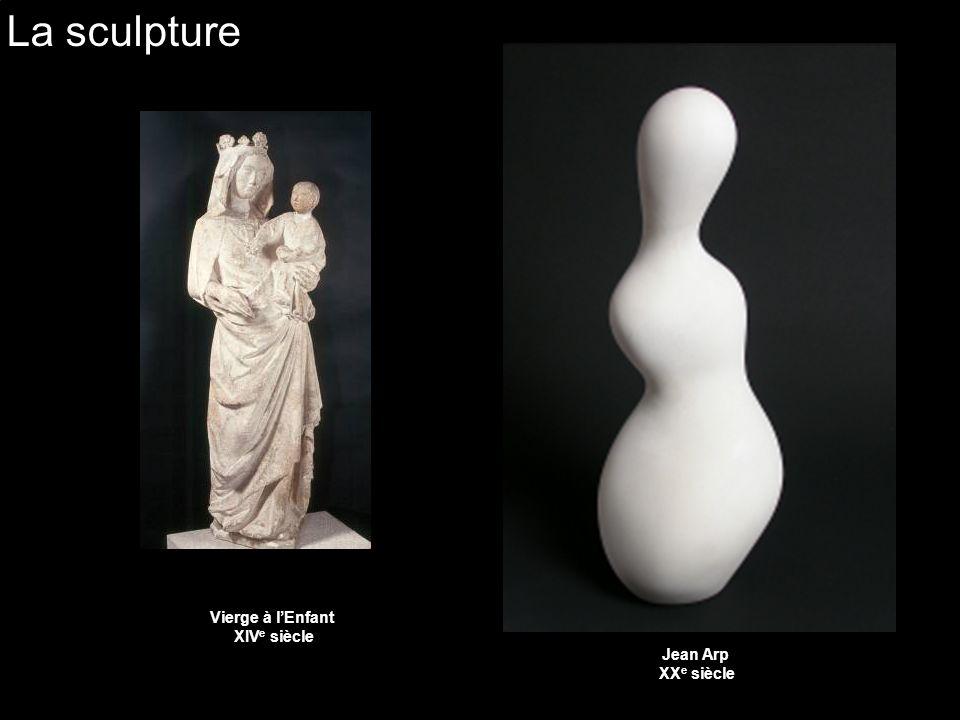 La sculpture Vierge à l'Enfant XIVe siècle Jean Arp XXe siècle