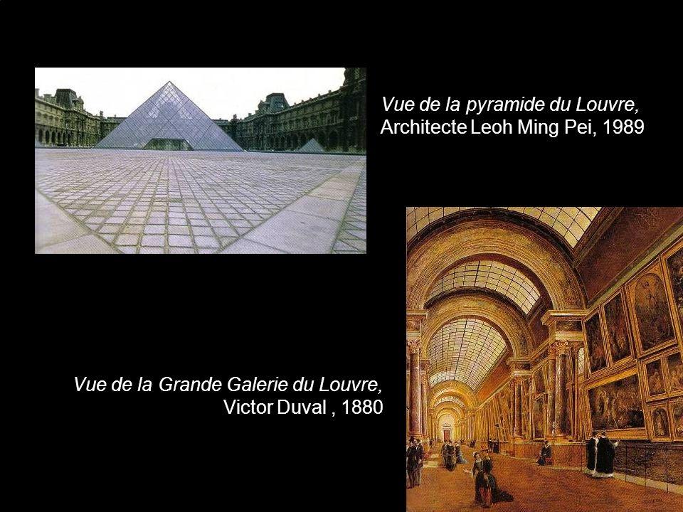 Vue de la pyramide du Louvre, Architecte Leoh Ming Pei, 1989
