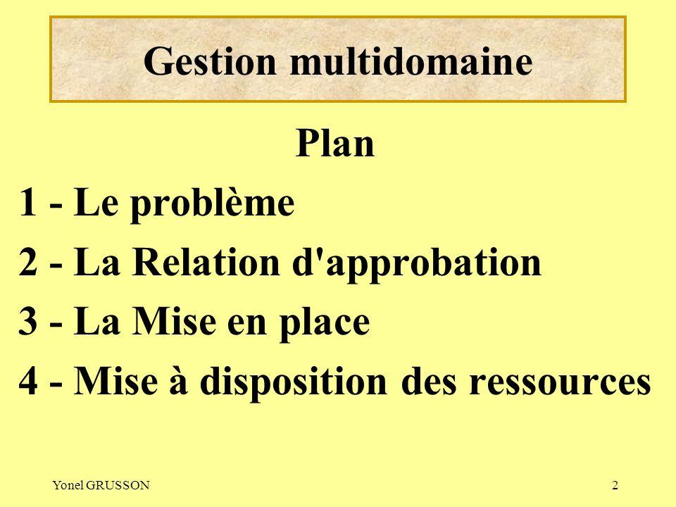 Gestion multidomaine Plan