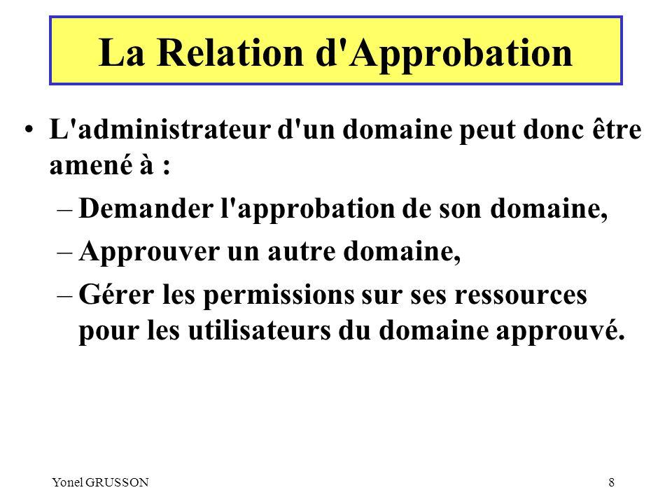 La Relation d Approbation
