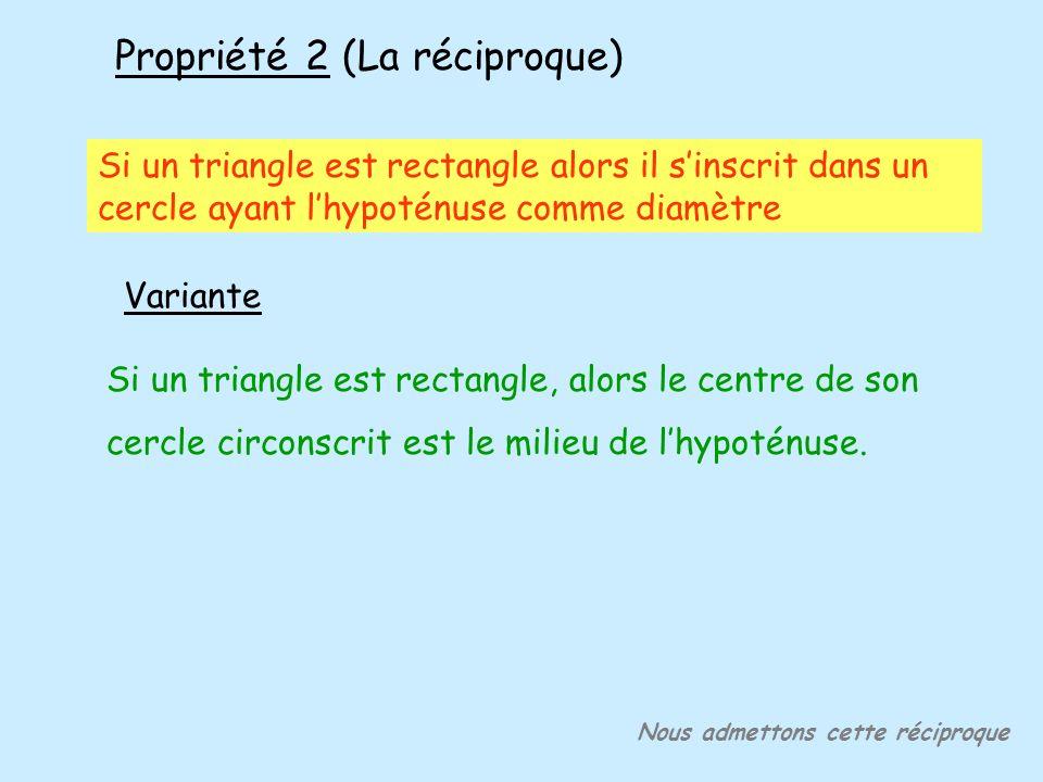 Propriété 2 (La réciproque)