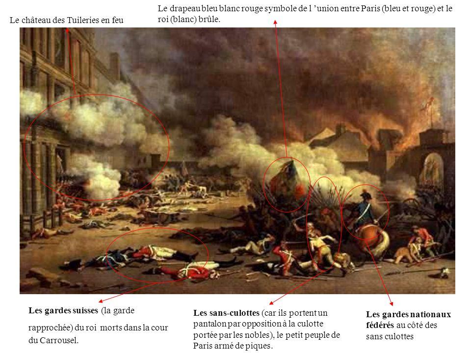 Le château des Tuileries en feu