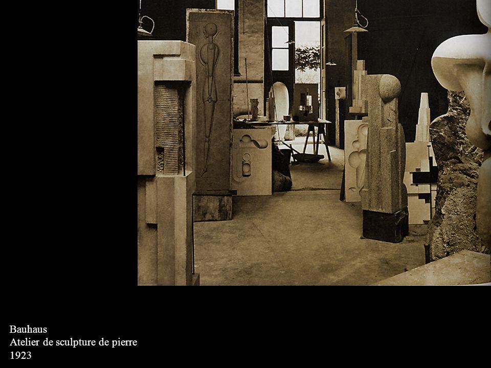 Bauhaus Atelier de sculpture de pierre 1923