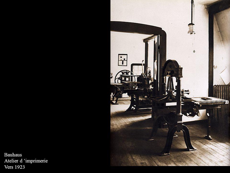 Bauhaus Atelier d 'imprimerie Vers 1923