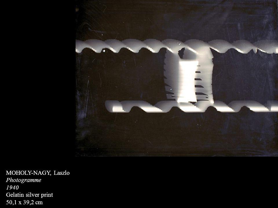 MOHOLY-NAGY, Laszlo Photogramme 1940 Gelatin silver print 50,1 x 39,2 cm