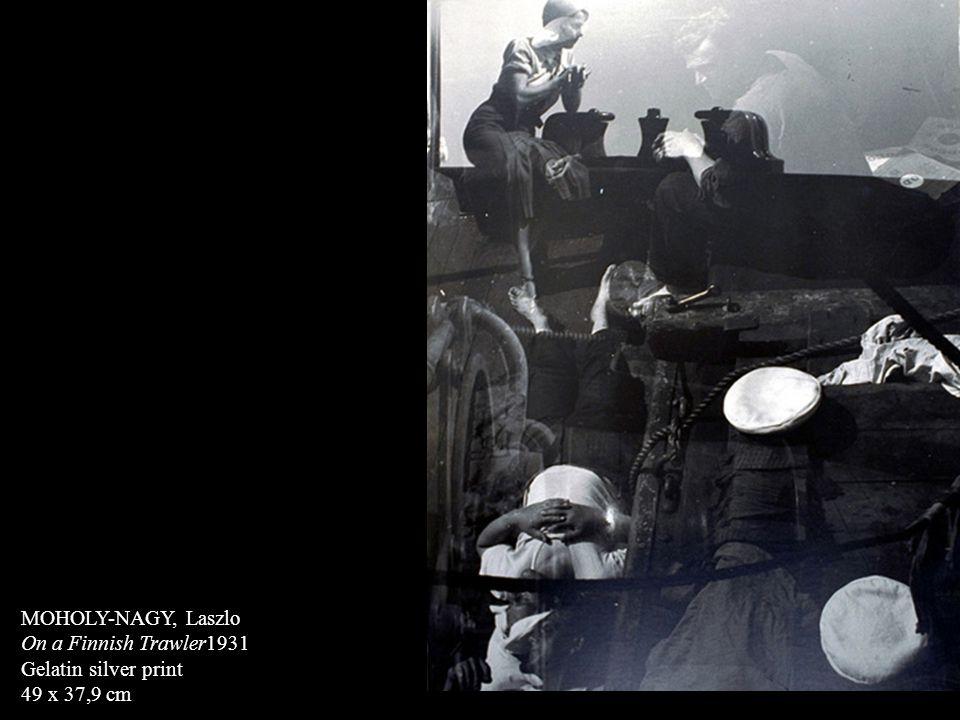 MOHOLY-NAGY, Laszlo On a Finnish Trawler1931 Gelatin silver print 49 x 37,9 cm