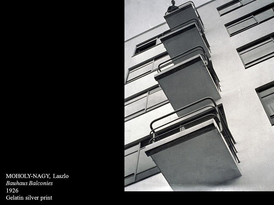 MOHOLY-NAGY, Laszlo Bauhaus Balconies 1926 Gelatin silver print