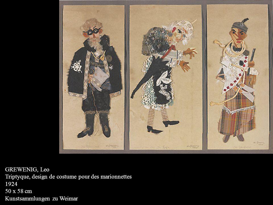 GREWENIG, Leo Triptyque, design de costume pour des marionnettes.