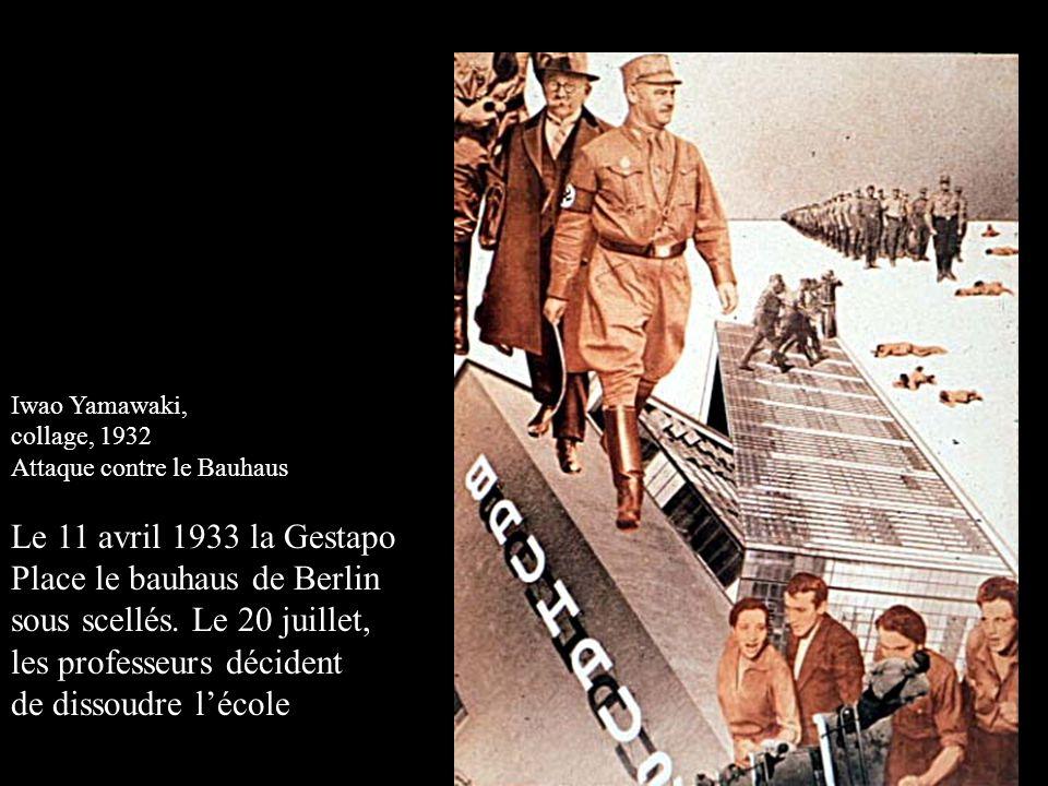 Place le bauhaus de Berlin sous scellés. Le 20 juillet,