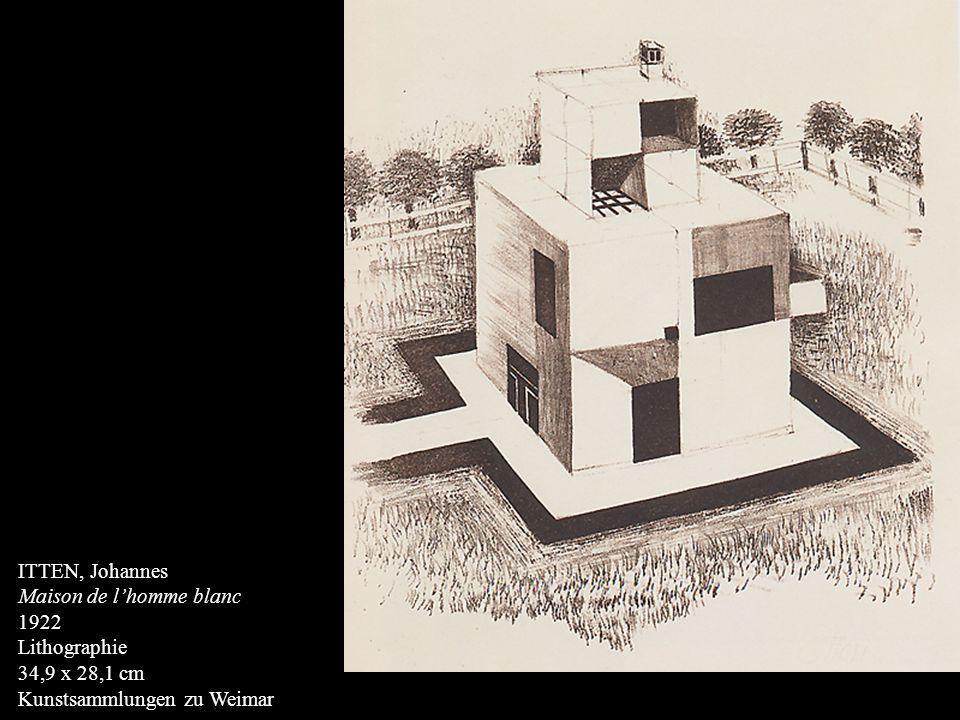 ITTEN, Johannes Maison de l'homme blanc 1922 Lithographie 34,9 x 28,1 cm Kunstsammlungen zu Weimar