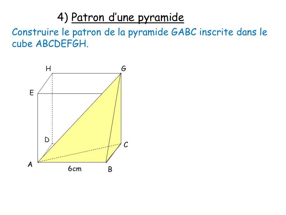 4) Patron d'une pyramide