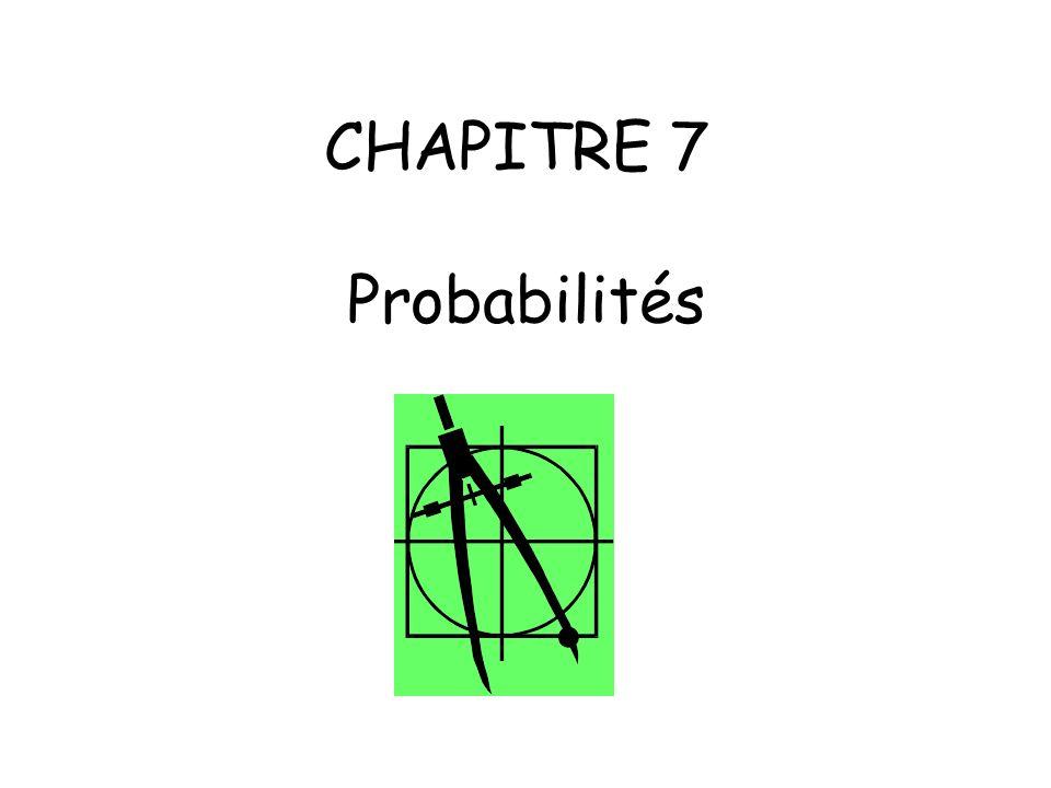 CHAPITRE 7 Probabilités