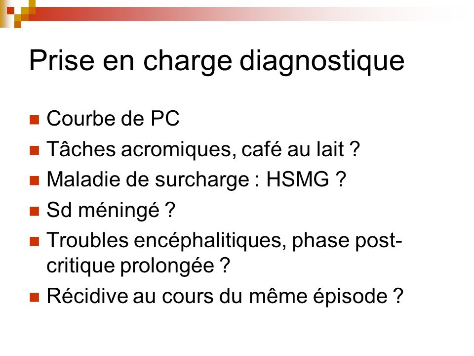 Prise en charge diagnostique