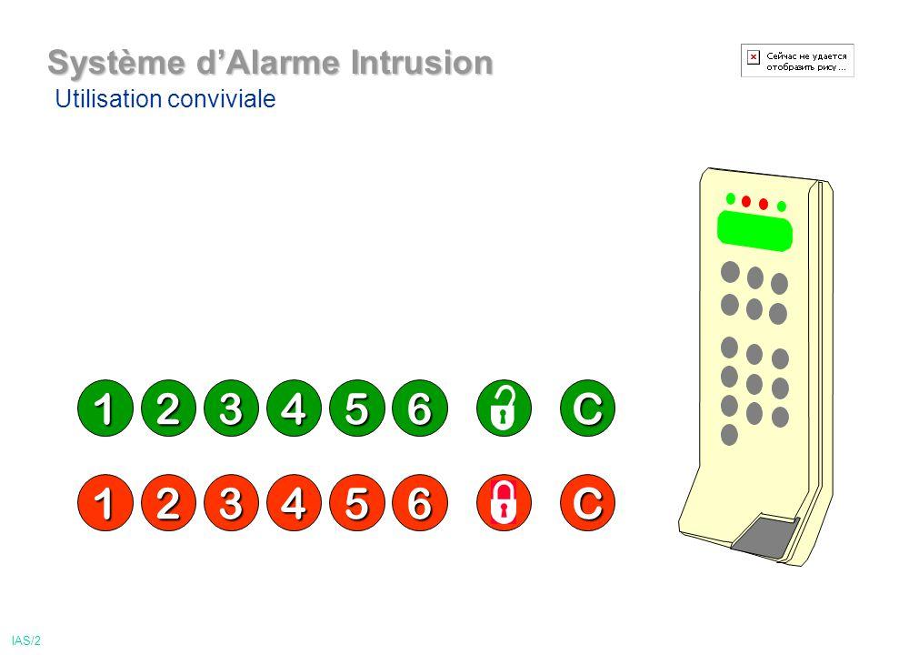 1 2 3 4 5 6 C 1 2 3 4 5 6 C Système d'Alarme Intrusion