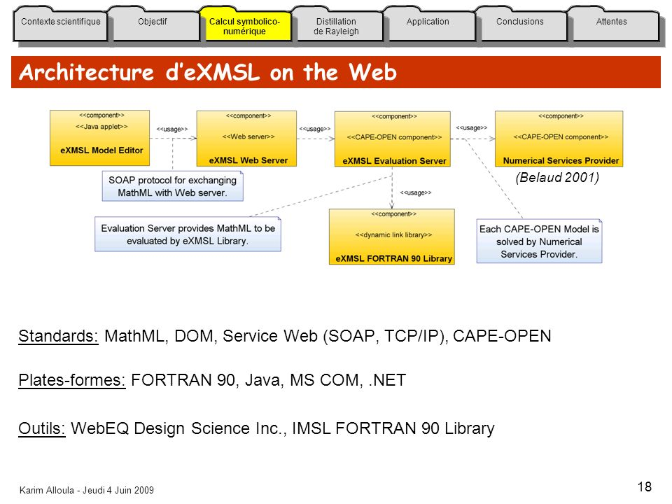 Architecture d'eXMSL on the Web