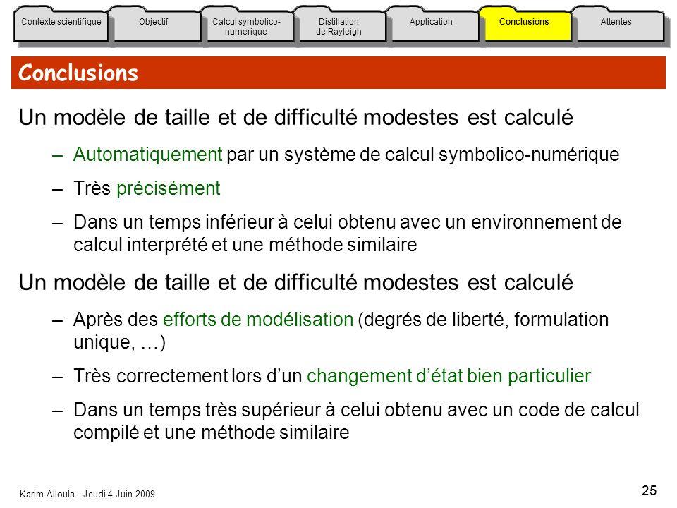 Un modèle de taille et de difficulté modestes est calculé