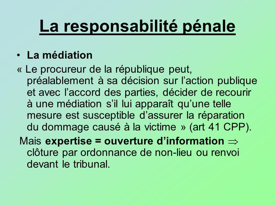 La responsabilité pénale