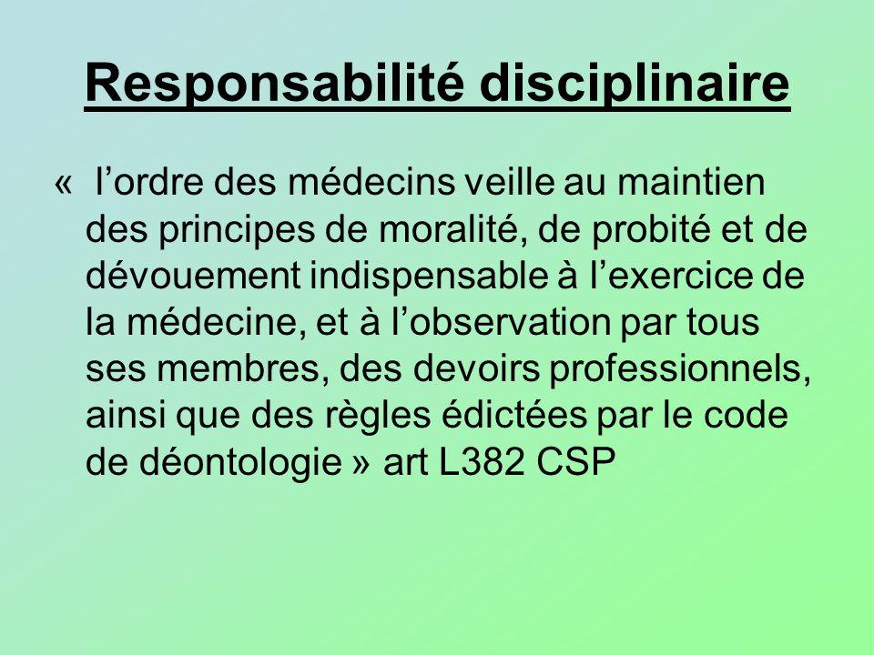 Responsabilité disciplinaire