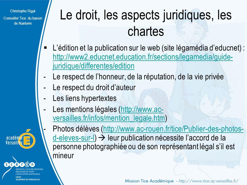Le droit, les aspects juridiques, les chartes