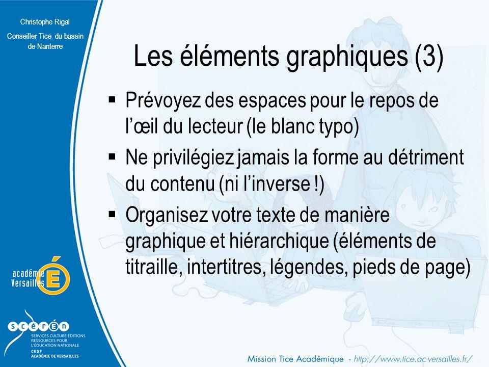 Les éléments graphiques (3)