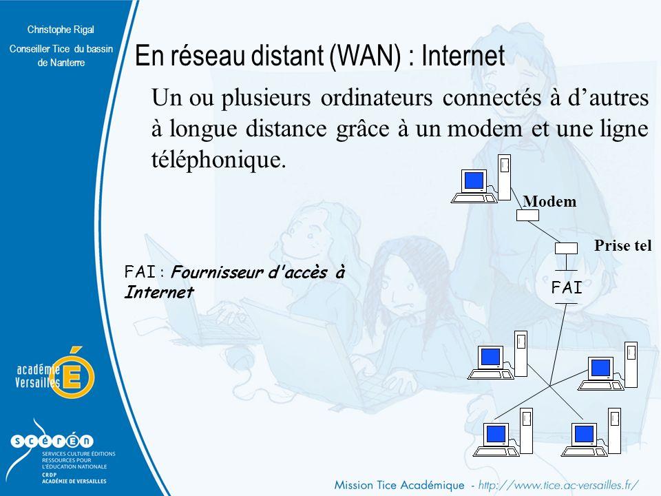 En réseau distant (WAN) : Internet