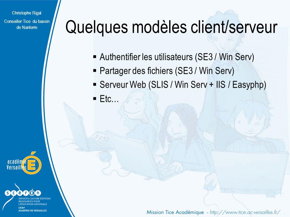 Quelques modèles client/serveur