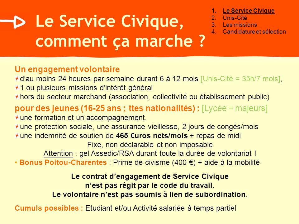 Le Service Civique, comment ça marche