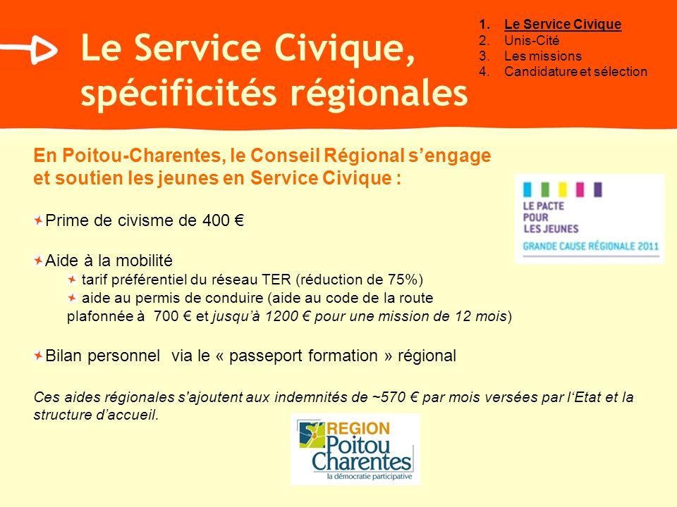 Le Service Civique, spécificités régionales