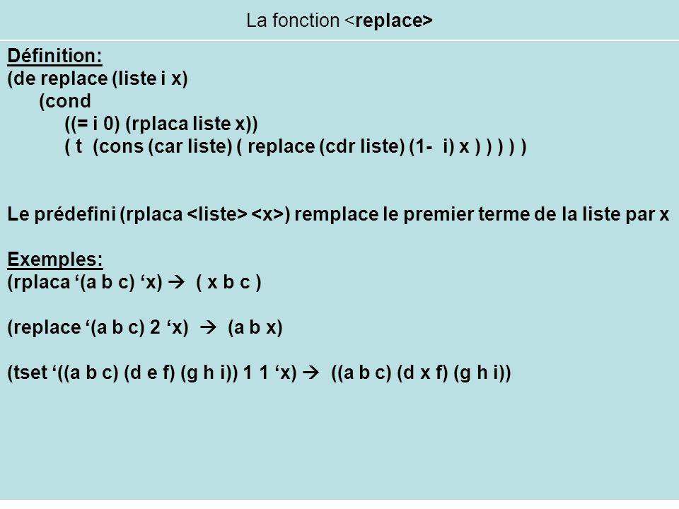 La fonction <replace>
