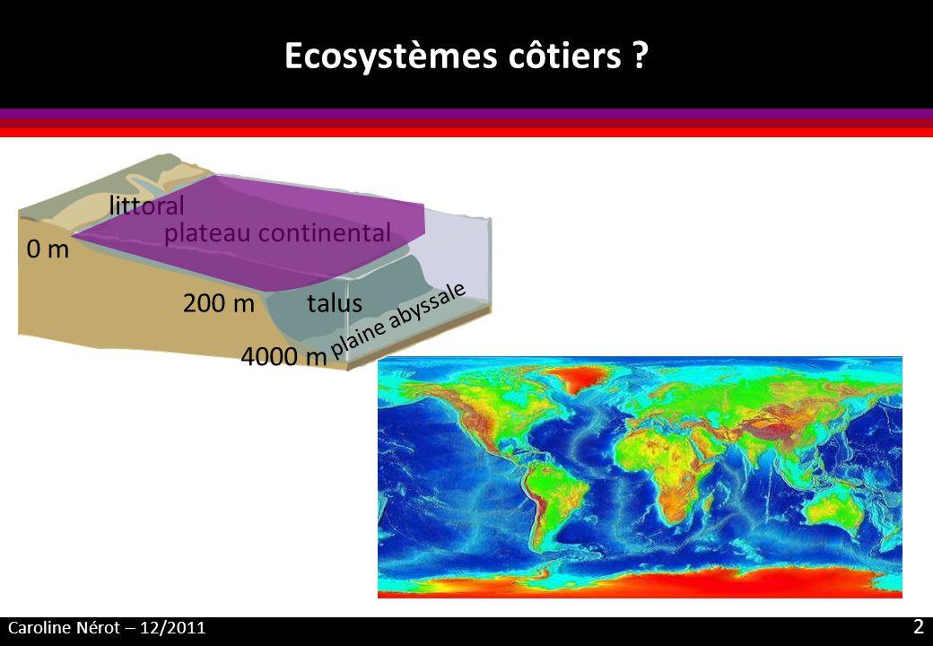 Ecosystèmes côtiers littoral plateau continental 0 m 200 m talus