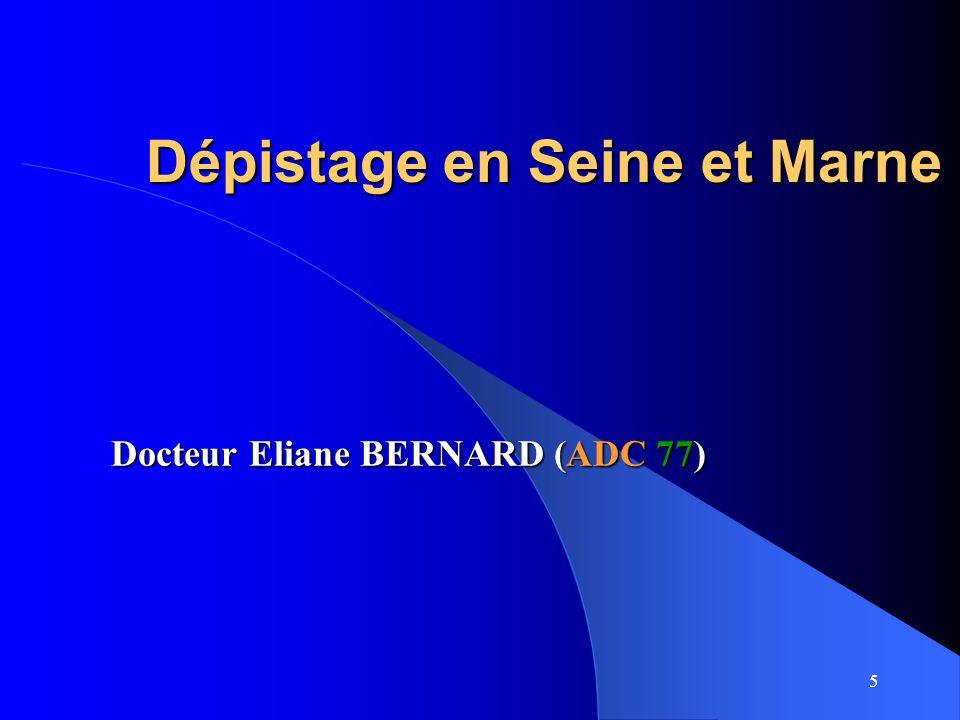 Dépistage en Seine et Marne