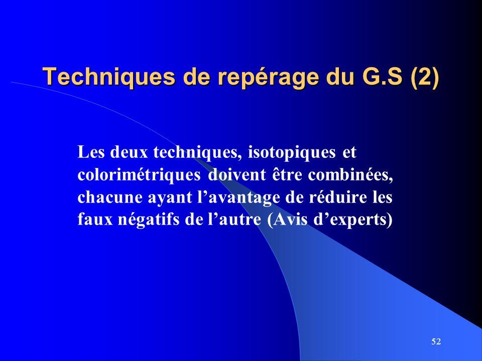 Techniques de repérage du G.S (2)