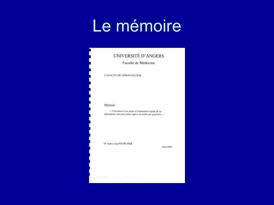 Le mémoire